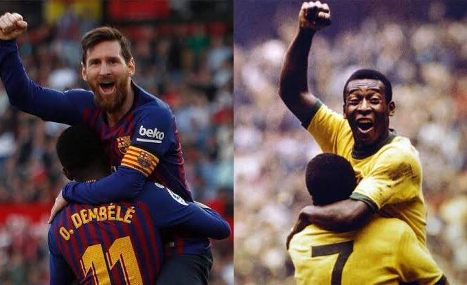 Messi Bate recorde de Pelé