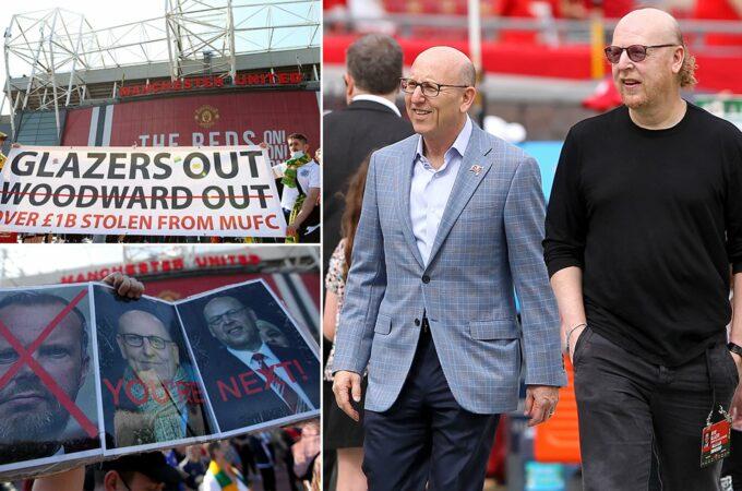 Manchester United v Liverpool: Centenas de fãs em protesto anti-Glazer em Old Trafford
