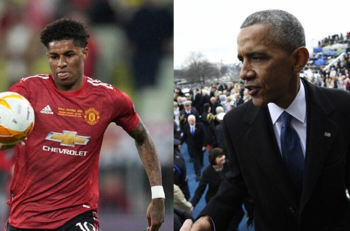 Marcus Rashford: Atacante do Manchester United e da Inglaterra fala com Barack Obama