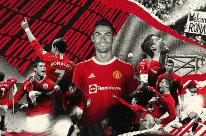 Cristiano Ronaldo: atacante do Manchester United com o número sete